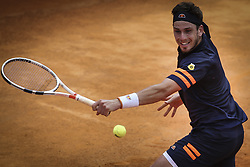 May 3, 2018 - Estoril, Portugal - Cameron Norrie of Great Britain returns a ball to Roberto Carballes Baena os Spain during the Millennium Estoril Open ATP 250 tennis tournament, at the Clube de Tenis do Estoril in Estoril, Portugal on May 3, 2018. (Credit Image: © Carlos Costa/NurPhoto via ZUMA Press)