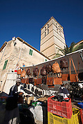 Sineu's famous Wednesday Market. Africans selling handbags.