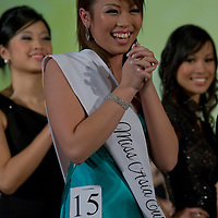 Vietnamese participant Van Kiet Hoa Sandra from Sweden attends placing thrid during the Miss Asia Europe beauty contest held in Budapest, Hungary, Saturday, 05. December 2009. ATTILA VOLGYI
