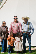 Charlie and Margo Real Bird, 82 year old, twin siblings, niece, Lucy Real Bird and her twins, Lucy Real Bird graduation celebration, Crow Indian Reservation, Montana