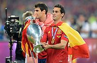 FUSSBALL  EUROPAMEISTERSCHAFT 2012   FINALE Spanien - Italien            01.07.2012 Alvaro Arbeloa (Spanien)