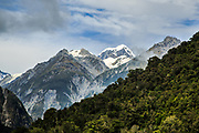 Photo of Mount Tasman on the South Island of New Zealand
