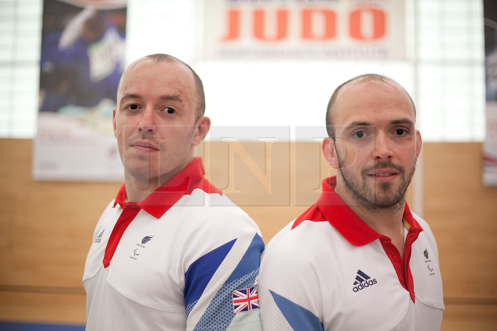 © London News Pictures. 23/08/2012. Dartford, Kent. Judo paralympian brothers Joe Ingram and Sam Ingram. Britain's leading judokas from ParalympicsGB in training at their national base in Dartford, Kent before competing in London2012. Picture credit should read Manu Palomeque/LNP