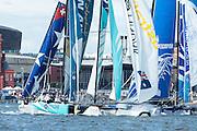 GAC Pindar, day two of the Cardiff Extreme Sailing Series Regatta. 23/8/2014