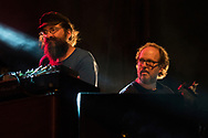 Phish keyboardist Page McConnell sits in and plays keys with Ray Pazckowski during the Trey Anastasio Band's set during day 2 of the Grand Point North music festival at Waterfront Park on Sunday afternoon September 17, 2017 in Burlington. (BRIAN JENKINS/for the FREE PRESS)
