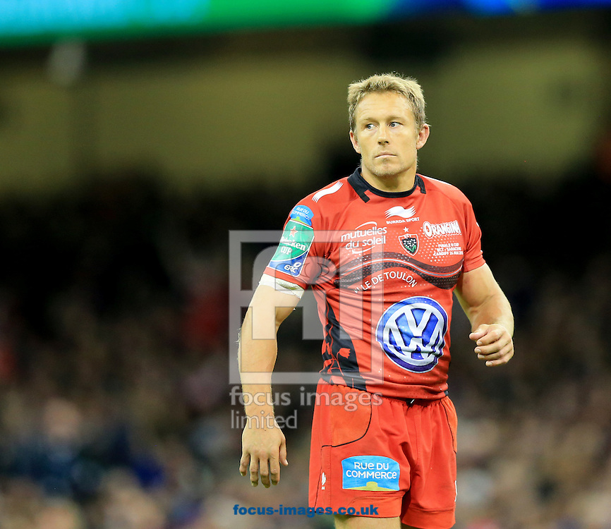 Jonny Wilkinson of RC Toulon during the Heineken Cup Final at the Millennium Stadium, Cardiff<br /> Picture by Michael Whitefoot/Focus Images Ltd 07969 898192<br /> 24/05/2014