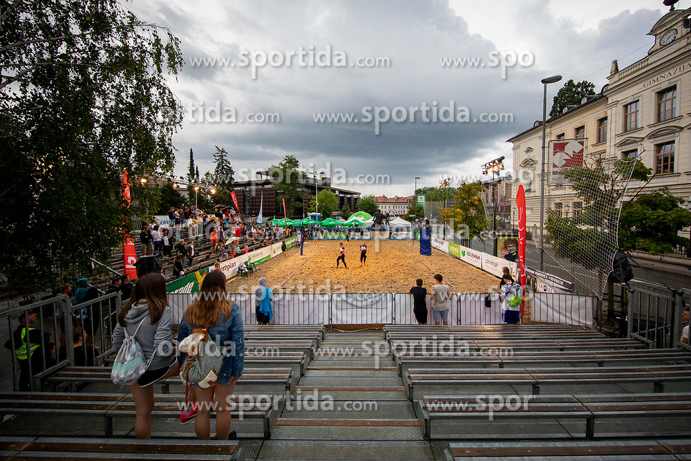 Game for Third place of Beach Volleyball Slovenian National Championship 2018, on July 21, 2018 in Kranj, Slovenia. Photo by Urban Urbanc / Sportida
