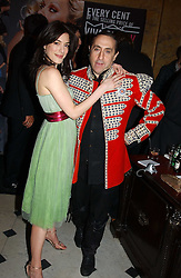 Actress JAIME MURRAY and PHILIP SALON at a party to celebrate Pamela Anderson's new role as spokesperson and newest face of the MAC Aids Fund's Viva Glam V Campaign held at Home House, Portman Square, London on 21st April 2005.<br />