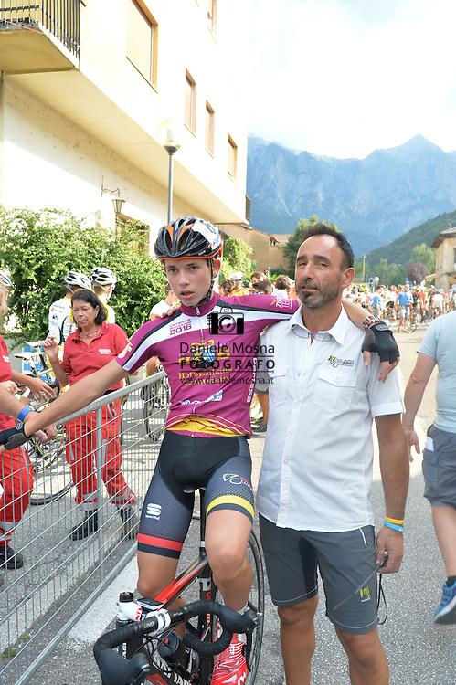 Ciclismo giovanile, 10A Coppa di Sera, Esordienti Primo Anno Maschile, Borgo Valsugana 10 settembre 2016 <br /> Andrea Dalvai, Luca Tognon<br /> © foto Daniele Mosna