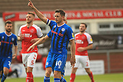 GOAL Ian Henderson celebrates 1-1 during the EFL Sky Bet League 1 match between Fleetwood Town and Rochdale at the Highbury Stadium, Fleetwood, England on 18 August 2018.