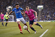 Portsmouth Defender, Anton Walkes (2) and Queens Park Rangers Defender, Jake Bidwell (3) during the The FA Cup fourth round match between Portsmouth and Queens Park Rangers at Fratton Park, Portsmouth, England on 26 January 2019.