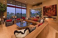 Living room interior of luxury manor house