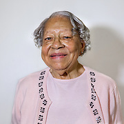 WASHINGTON, DC - MAR09:  Gladys Butler, who will turn 100 this year, at Zion Baptist Church, March 9, 2016, in Washington, DC. These four women have been friends since they grew up together in southwest DC before the area was destroyed under eminent domain. (Photo by Evelyn Hockstein/For The Washington Post)