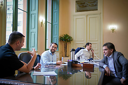 O Prefeito de Porto Alegre, Nelson Marchezan Junior despacha em seu gabinete, no Paço Municipal. FOTO: Jefferson Bernardes/ PMPA