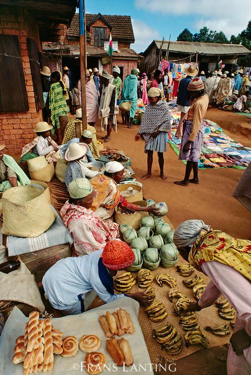 Market scene, Central Madagascar