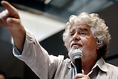 Beppe Grillo press conference