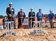 Groundbreaking ceremony for the new Energy Institute High School, November 19, 2016.