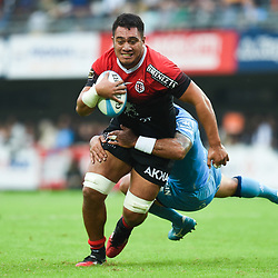 Selevasio TOLOFUA of Toulouse  during the Top 14 match between Montpellier and Toulouse on October 19, 2019 in Montpellier, France. (Photo by Alexandre Dimou/Icon Sport) - Selevasio TOLOFUA - Altrad Stadium - Montpellier (France)