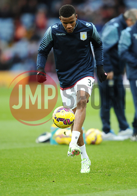Aston Villa's Riccardo Calder  - Photo mandatory by-line: Joe Meredith/JMP - Mobile: 07966 386802 - 20/12/2014 - SPORT - football - Birmingham - Villa Park - Aston Villa v Manchester United - Barclays Premier League