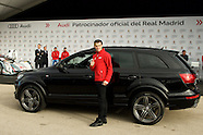 120114 Real Madrid Players Receive New Audi Cars in Madrid