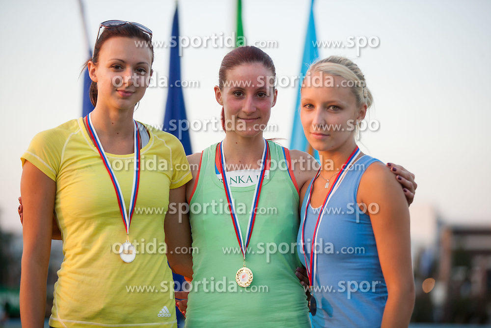 Marusa Cernjul, Marusa Novak and Veronika Podlesnik during Day 1 of Slovenian Athletics National Championships 2012, on July 7, 2012 in Koper, Slovenia.  (Photo by Vid Ponikvar / Sportida.com)