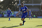AFC Wimbledon defender Jon Meades (3) during the EFL Sky Bet League 1 match between AFC Wimbledon and Millwall at the Cherry Red Records Stadium, Kingston, England on 2 January 2017. Photo by Stuart Butcher.