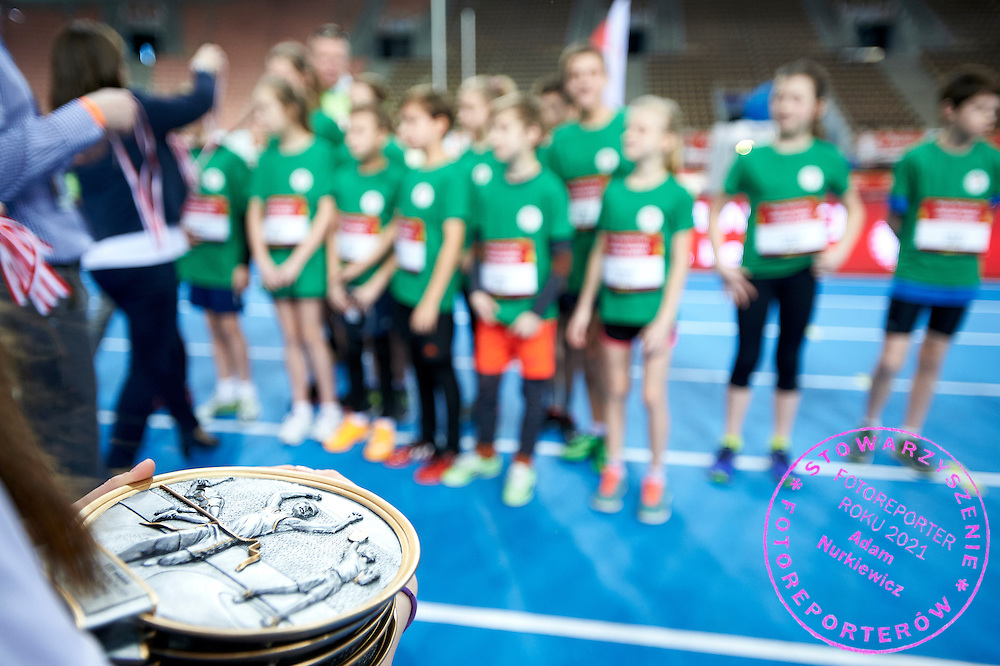 Youth Pedro&rsquo;s Cup by Caroline B. LeFrak Foundation while athletics meeting Pedro's Cup at Atlas Arena in Lodz, Poland.<br /> <br /> Poland, Lodz, February 17, 2015<br /> <br /> Picture also available in RAW (NEF) or TIFF format on special request.<br /> <br /> For editorial use only. Any commercial or promotional use requires permission.<br /> <br /> Adam Nurkiewicz declares that he has no rights to the image of people at the photographs of his authorship.<br /> <br /> Mandatory credit:<br /> Photo by &copy; Adam Nurkiewicz / Mediasport