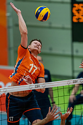 09-06-2019 NED: Golden League Netherlands - Spain, Koog aan de Zaan<br /> Fourth match poule B - The Dutch beat Spain again in five sets in the European Golden League / Michael Parkinson #17 of Netherlands