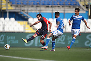 Genoa's Italian striker Mattia Destro shoots goal wards during the Serie A match at Stadio Mario Rigamonti, Brescia. Picture date: 27th June 2020. Picture credit should read: Jonathan Moscrop/Sportimage