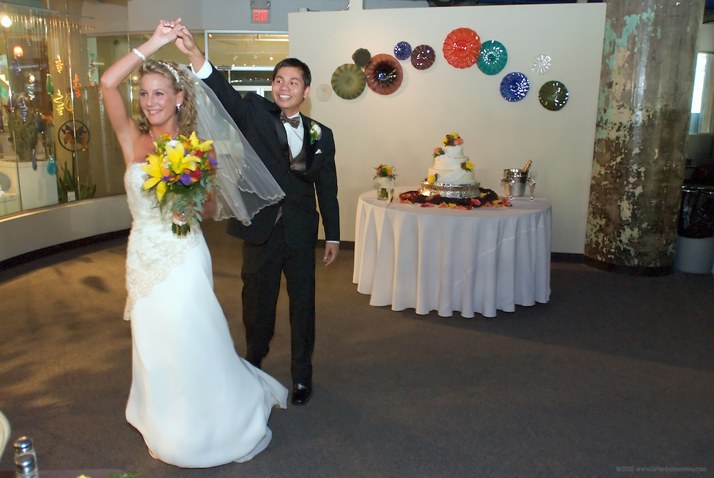 The wedding of April and Marlon at St. Bartholomew Church in Louisville, Ky., with reception following at GlassWorks.