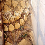 25 November 1976<br /> Kabul. Section of honeycomb decoration on interior of dome over door.