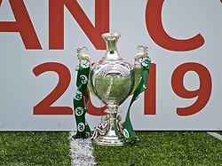 RHOSYMEDRE, WALES - Sunday, May 5, 2019: The trophy during the FAW JD Welsh Cup Final between Connah's Quay Nomads FC and The New Saints FC at The Rock. (Pic by David Rawcliffe/Propaganda)