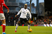 Fulham forward Sheyi Ojo (19) during the EFL Sky Bet Championship match between Fulham and Barnsley at Craven Cottage, London, England on 23 December 2017. Photo by Andy Walter.
