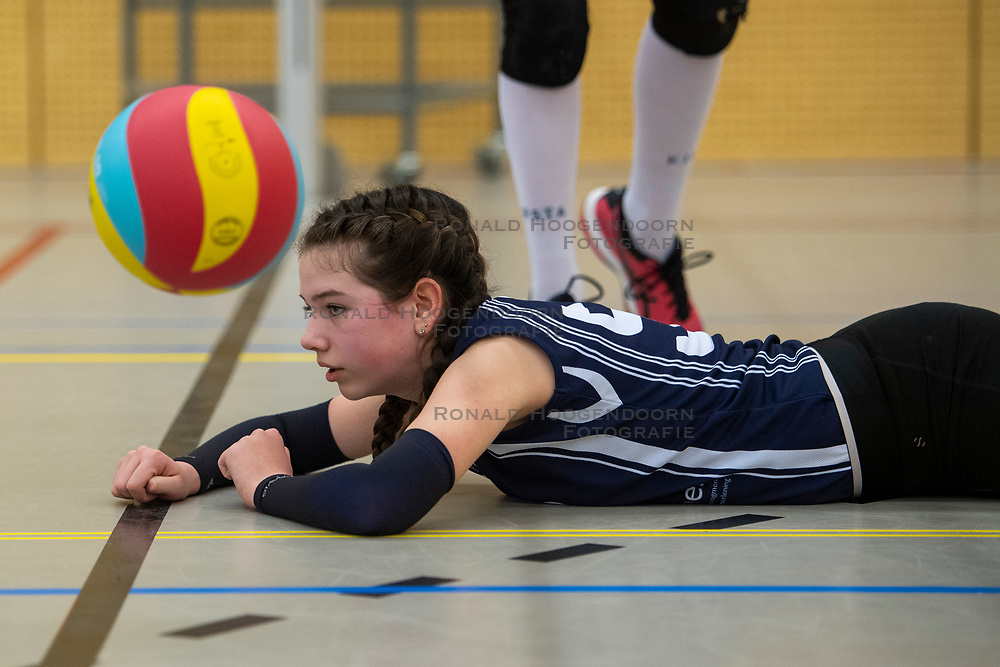 31-03-2019 NED: Final D Volleybaldirect Open, Wognum<br /> 16 teams of girls and boys D competed for the Dutch Open Championship / Sneek vs. Dinto