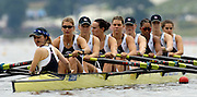 Poznan, POLAND.  2006, FISA, Rowing World Cup, GBR W8+ bow Baz MOFFAT, Alison  KNOLWES, Vicki ETIEBET, Carla ASHFORD, Natasha HOWARD,  Natashe  PAGE, Katie GREVES, Elise LAVERICK, cox  Caroline O'CONNER.  move away from the start pontoon at the   'Malta Regatta course;  Poznan POLAND, Fri. 16.06.2006. © Peter Spurrier   ....[Mandatory Credit Peter Spurrier/ Intersport Images] Rowing Course:Malta Rowing Course, Poznan, POLAND