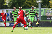 Forest Green Rovers Keanu Marsh-Brown(7) shoots at goal during the Vanarama National League match between Forest Green Rovers and Barrow at the New Lawn, Forest Green, United Kingdom on 1 October 2016. Photo by Shane Healey.