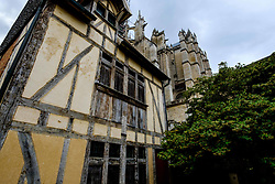 Detail of an old house near St Peter's Cathedral (La Cath&eacute;drale Saint-Pierre), Beauvais, France<br /> <br /> (c) Andrew Wilson | Edinburgh Elite media