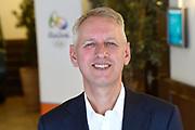Persbijeenkomst mediacaf&eacute; Rio2016 in de Heineken Experience in Amsterdam<br /> <br /> Op de foto:  Han Peters - Ambassadeur in Brazili&euml;