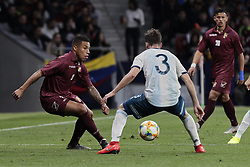 March 22, 2019 - Madrid, Spain - Argentina's Nicolas Alejandro Tagliafico and Venezuela's Josef Martinez during International Adidas Cup match between Argentina and Venezuela at Wanda Metropolitano Stadium. (Credit Image: © Legan P. Mace/SOPA Images via ZUMA Wire)