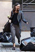 Nov. 8, 2015 - New York City, NY, USA - <br /> <br /> Actress Keira Knightley leaves her Tribeca apartment with an apple in her hand<br /> ©Exclusivepix Media