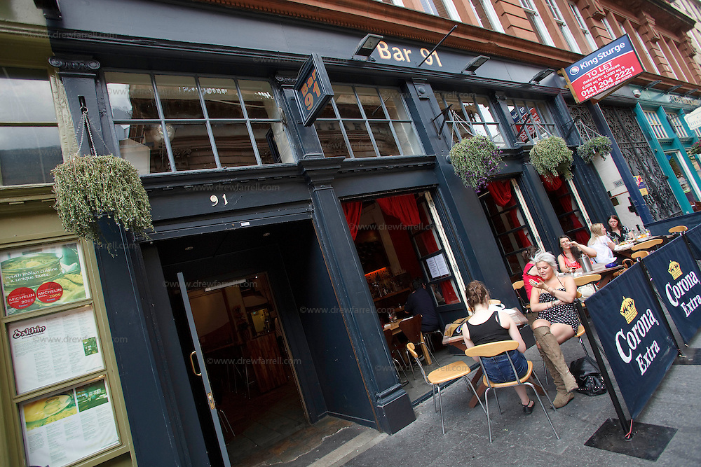 Picture shows : Bar 91 Candleriggs. Merchant City Area, Glasgow. Travel guide feature..Picture Drew Farrell. tel : 07721-735041......