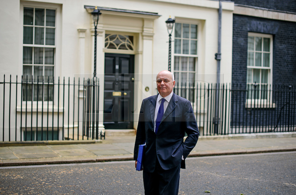 © Licensed to London News Pictures. 02/06/2015. Westminster, UK. Secretary of State for Work and Pensions IAIN DUNCAN SMITH  leaving Number 10 Downing Street in London following a cabinet meeting. Photo credit: Ben Cawthra/LNP
