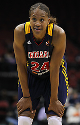 June 3, 2012; Newark, NJ, USA; Indiana Fever forward Tamika Catchings (24) during the second half at the Prudential Center. The Liberty defeated the Fever 87-72.