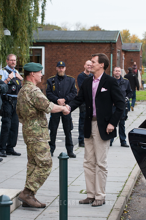 26.10.12017. Copenhagen, Denmark.  <br /> Prince Joachim's arrival at the Danish Defence Centre for Military Physical Training in Copenhagen.<br /> Photo: © Ricardo Ramirez