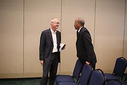 Joel Pett plenary program to the Midwest Archivists in Hyatt meeting room, Thursday, May 07, 2015 at Hyatt Meeting Room in Lexington.