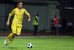 Janez Aljancic  (3) of Domzale at 1st football game of 2nd Qualifying Round for UEFA Champions league between NK Domzale vs HNK Dinamo Zagreb, on July 30, 2008, in Domzale, Slovenia. Dinamo won 3:0. (Photo by Vid Ponikvar / Sportal Images)