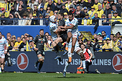 April 1, 2018 - Clermont Ferrand - Stade Marcel, France - Remy Grosso (asm) vs Pat Lambie et Teddy Thomas  (Credit Image: © Panoramic via ZUMA Press)