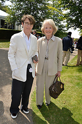 Left to right, SOPHIE HICKS mother of Edie Campbell and JOAN HICKS at the 2014 Glorious Goodwood Racing Festival at Goodwood racecourse, West Sussex on 31st July 2014.