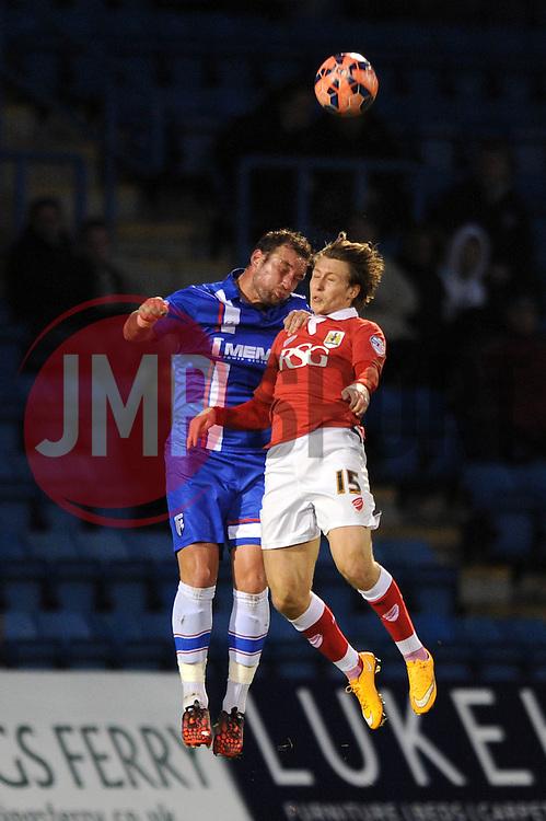 Bristol City's Luke Freeman  - Photo mandatory by-line: Dougie Allward/JMP - Mobile: 07966 386802 - 08/11/2014 - SPORT - Football - Gillingham - Priestfield Stadium - Gillingham v Bristol City - FA Cup - Round One