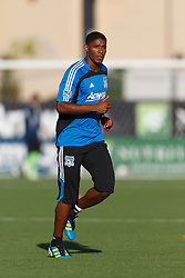 July 20, 2011; Santa Clara, CA, USA;  San Jose Earthquakes midfielder Khari Stephenson (7) warms up before the game against the Vancouver Whitecaps at Buck Shaw Stadium. San Jose tied Vancouver 2-2.